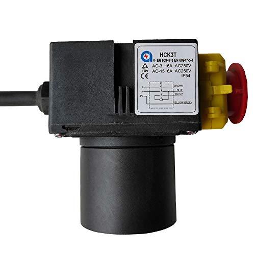 HCK3T 250V 16/6A Imprägniern Verdrahtete Elektromagnetische AN-AUS Druckknopf-Schalter-Notaus-Knopf-Schalter mit Überlastschutz UVLO für Werkzeugmaschinen-Ausrüstungs Holz Schneidemaschine