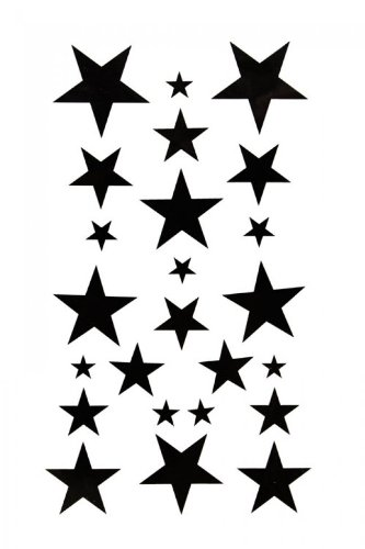 SPESTYLE waterproof non-toxic temporary tattoo stickersBody painting temporary tattoos waterproof temporary tattoo black star