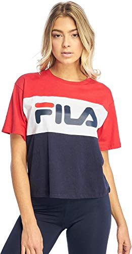 Fila Classic Pure Tee SS - Camiseta Black Iris/True Red/Briwhi XS