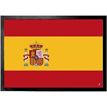 DIYABCD - Felpudo antideslizante con la bandera de España, para casa o jardín, felpudo para puerta, alfombrilla: Amazon.es: Jardín