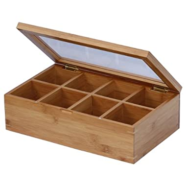 Oceanstar Bamboo Tea Box, Natural