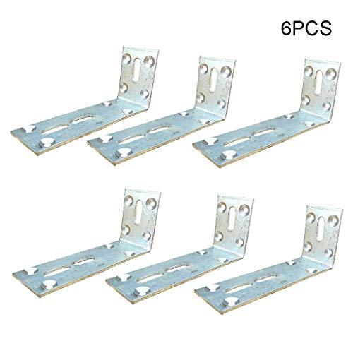 6 PCS vanghoeken L Shape Beugels 60x130x40mm, 90 graden Joint Haakse L Beugel voor meubels hout Kasten Rekken