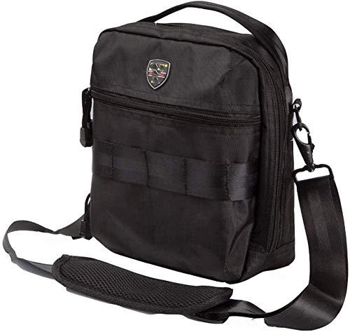 Mochila multiusos Carpintero bolsa de herramientas de potencia hombro, Viajes Moda Duffels multifunción bolso de la bolsa de almacenamiento de herramientas técnico funcional (color: negro, tamaño: un