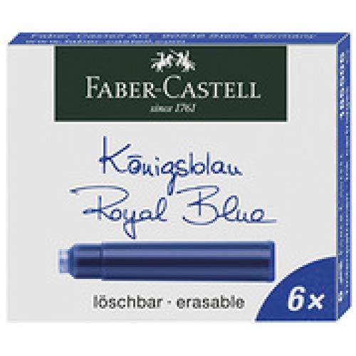 Faber-Castell - Vaso de tinta, color rojo Tintenpatrone Standard 6er
