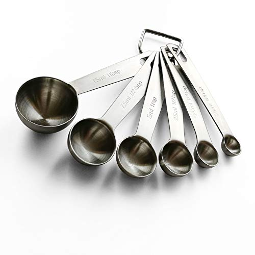 Measuring Spoons SetStainless Steel for Dry and Liquid Ingredients  6 Piece
