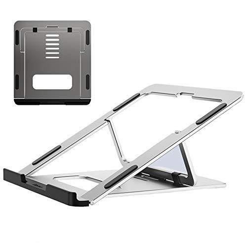 Soporte para Portátil, Multiángulo Ajustable Soporte Ordenadores Portátiles, Plegable Soporte para Laptop para MacBook Pro/Air, HP, DELL, más Portátiles de 10-15,6 Pulgadas,Plata
