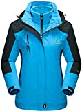 Mountain Jacket Womens Fleece Waterproof Jacket Outdoor Winter Warm 3-in-1 Coat Sweater Woman...
