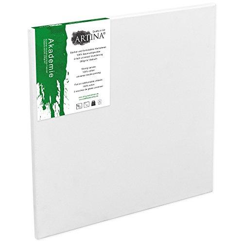 Artina Akademie - 90x90cm - Lienzo Blanco para Pintar - con Bastidor 280g/m²