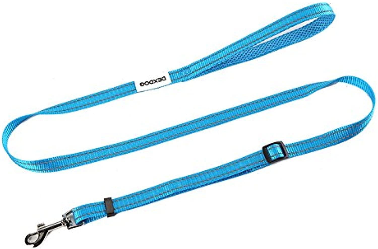 DEXDOG Adjustable Dog Leash by Padded Strong Short Walking Leash for Dogs, Puppy Leash, Pet Leash  Puppy Supplies & Dog Accessories for Large Medium Dogs (bluee, 5 8 inch Width)
