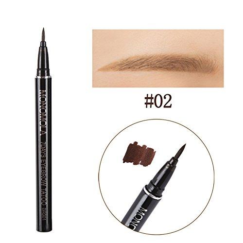 Blaward Brauenstifte,Augenbrauenstift Wasserfest, Augenbrauenstift Braun,Beständigkeit gegen Verfärbung,wischfest für Augen Make-up