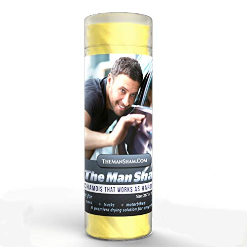 The Man Sham Chamois-Cloth - 26' X 17' - Top-Men's-Gift - Ultimate-Towel for Fast Drying of Your Car...