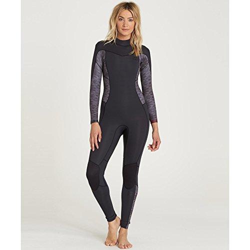 Billabong Women's Synergy 3/2 Back Zip Sealed Seam Full Wetsuit, Black, 0