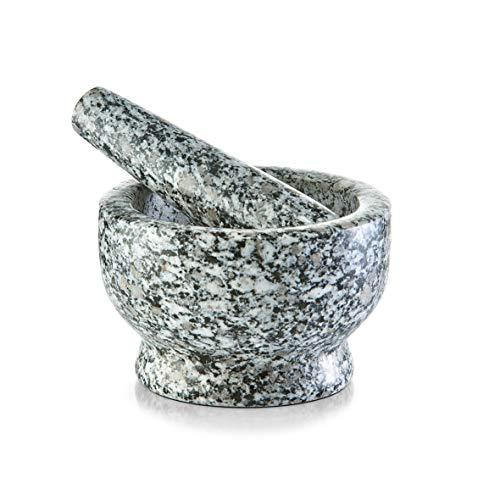 Zeller 2057635 Mortier et Pilon en Granite 13x8cm en Gris, Autre