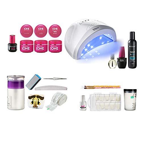 Inca Store Ricostruzione Unghie Gel Monofasico con Lampada e accessori Nail Art