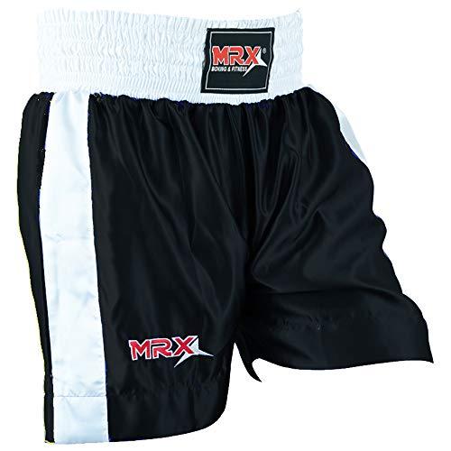Men Boxing Shorts for Boxing Training Fitness Gym Cage Fight MMA Mauy Thai Kickboxing Trunks Clothing Black Medium