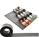 Banveno Spice Drawer Non-Slip Liner,  Great Silicone Drawer Organizer for Storing,10ft Roll, Gray,Your Cabinets Hassle Killer,Holds up to 30 spice bottles