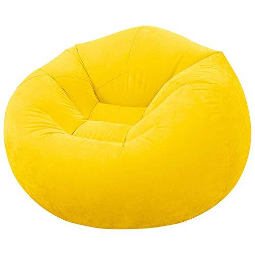 Intex - Sillón hinchable 107 x 104 x 69 cm, amarillo