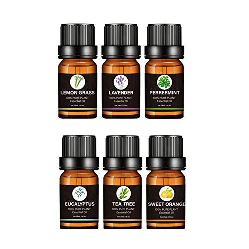 Aceites Esenciales de Aromaterapia, 100% de Aceite Esencial Natural Conjunto, para Conjunto de Difusores y Humidificadores Ayuda a...