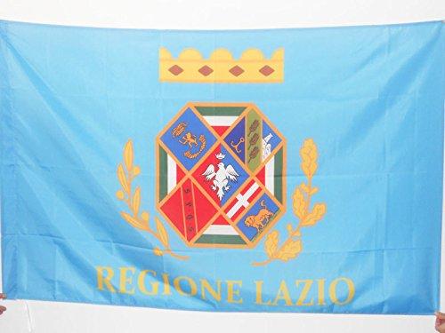 AZ FLAG Bandera de LACIO 90x60cm para Palo - Bandera DE Lazio - Italia 60 x 90 cm