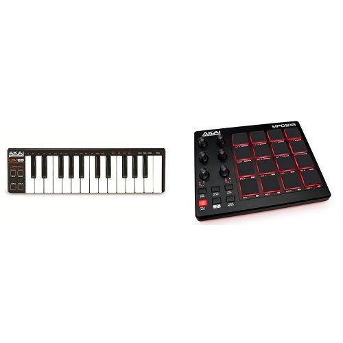 Akai Professional LPK25 Laptop Performance USB MIDI Keyboard Controller mit 25 Minitasten + Akai Professional MPD218 USB MIDI Pad Controller Bundle