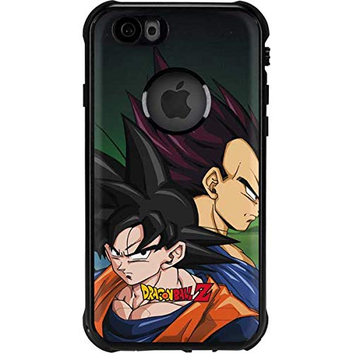 Skinit Waterproof Phone Case Compatible with iPhone 6/6s - Officially Licensed Dragon Ball Z Dragon Ball Z Goku & Vegeta Design