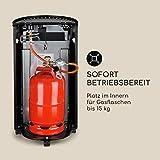 blumfeldt Bonaparte Fire - Gasheizgerät, 4200W, elektrische Zündung mit AAA-Batterie, für Gasflaschen bis 15 kg, Full Size Tank Cover, kindersicher, 4 Bodenrollen, Tragemulden, schwarz - 7
