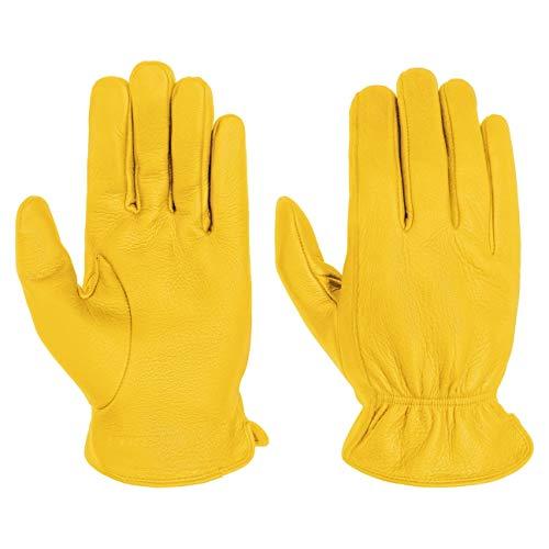 Stetson Deer Nappa Handschuhe Herrenhandschuhe Lederhandschuhe Fingerhandschuhe Hirschleder Herren - Herbst-Winter - 8 HS gelb
