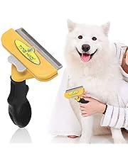 WEILafudong Szczoteczka do czyszczenia zwierząt domowych kocie i psa grzebień do usuwania włosów szczotka do czyszczenia (żółty L)