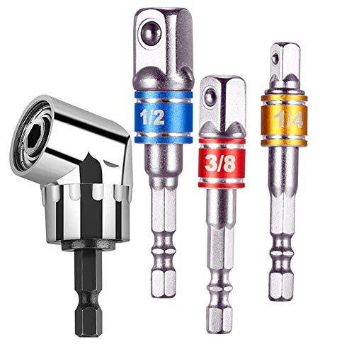 Juego de 3 brocas de destornillador para taladro de impacto, adaptador, puntas de destornillador, puntas rectas