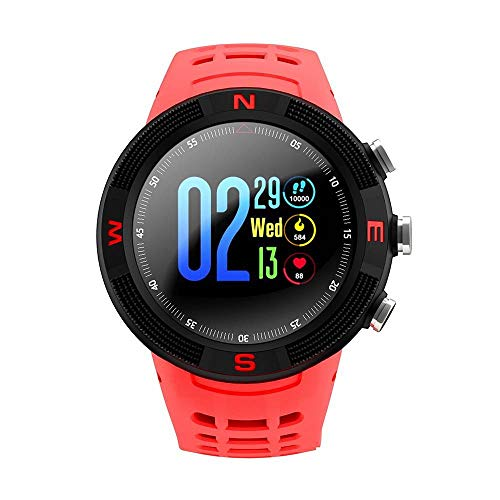 QYLJX Smart Watch, GPS Sports Smartwatch Bluetooth 4.2 IP68 Pantalla Táctil Impermeable Podómetro Sleep Sleep Monitoring, Pantalla de 1.3 Pulgadas, Unisex, para Android iOS