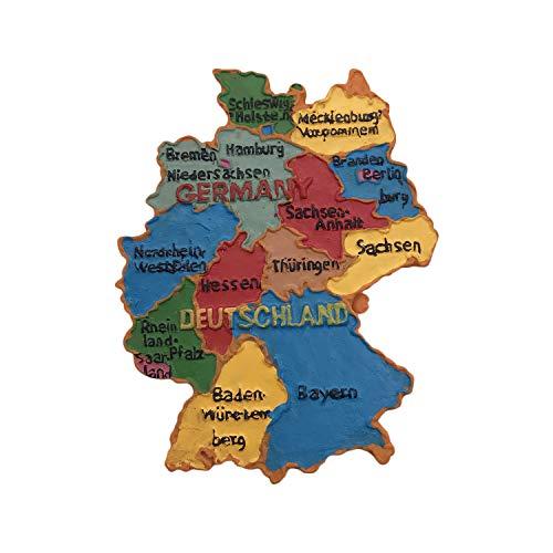 Deutschland 3D Karte Kühlschrankmagnet Touristische Souvenirs Harz Magnetische Aufkleber Kühlschrankmagnet Home & Kitchen Dekoration aus China