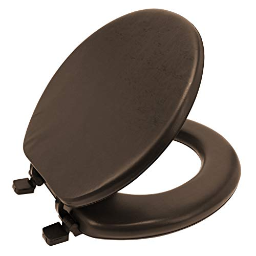 Ginsey Standard Soft Toilet Seat with Plastic HInges, Chocolate