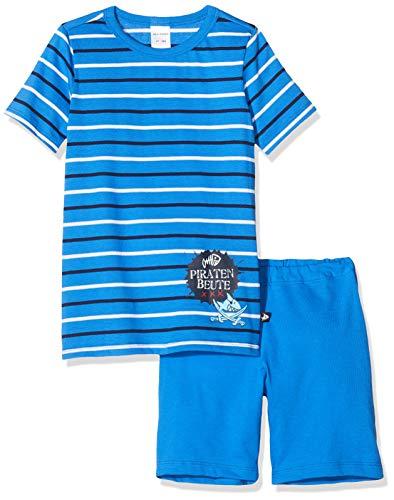 Schiesser Jungen Capt´N Sharky Kn Kurz Zweiteiliger Schlafanzug, Blau (Gestreift 800), 128