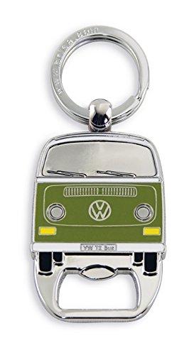 BRISA VW Collection - Volkswagen T2 Bulli Bus Schlüssel-Anhänger-Flaschenöffner, Geschenk-Idee/Fan-Souvenir/Retro-Vintage-Artikel (Grün)