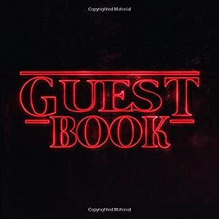 Guest Book: Nostalgic Retro 80s Font Guestbook - Vintage 198