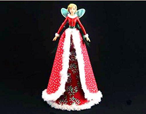 Gisela Graham - Christmas Tree Topper Red Fairy Dream 28 cm