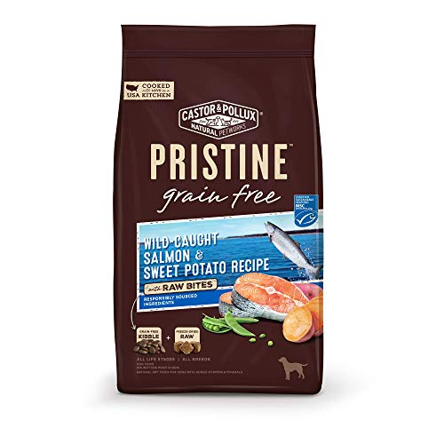 Castor & Pollux Pristine Grain Free Wild-Caught Salmon & Sweet Potato Recipe with Raw Bites Dry Dog Food - 18.0 lb Bag