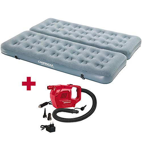 Coleman Kit matelas gonflable double convertible Smart Quickbed Single Campingaz + gonfleur rechargeable 12 V-230 V
