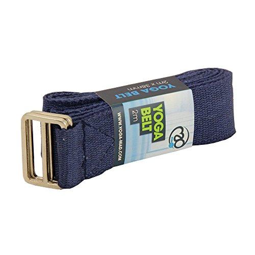 Yoga Mad, Lightweight Yoga Belt Unisex Adulto, Blu, 2m Long