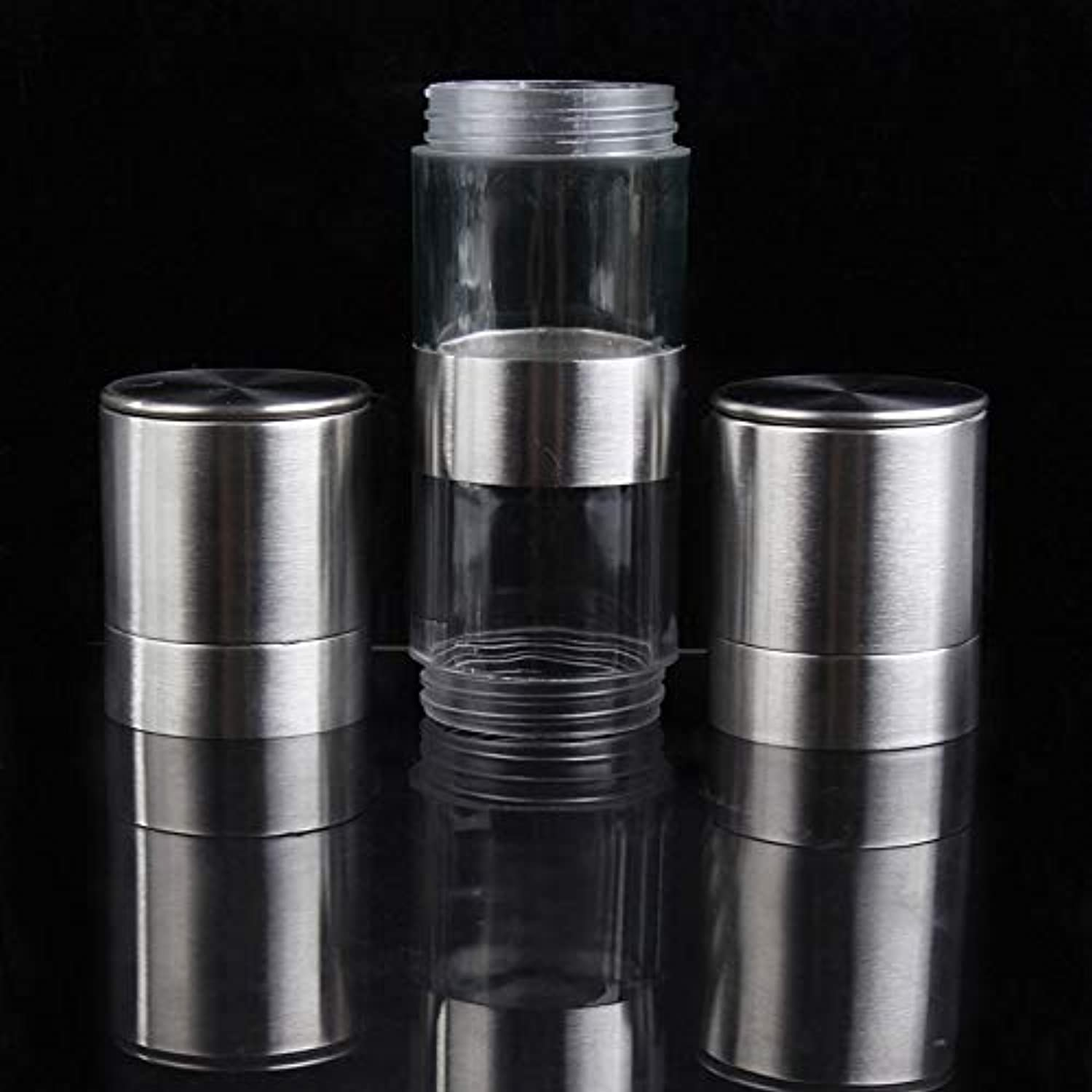 2 in 1 Manual Stainless Steel Kitchen Salt and Pepper Mill Grinder Muller BS