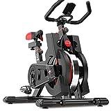 Dripex Vélo d'Appartement Cardio Vélo Spinning Appareil Fitness Sport Abdominal Dos Bras, Anti-Résistance Pouls à la Main+Capteur Cardiaque+LCD écran