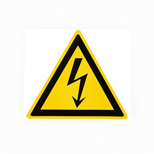 20pcs 100mm High Voltage Waterproof Label Danger Symbol Electrical Hazard Warning Safety Sign Electrical Decals Equipment Warning Sticker