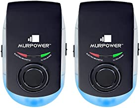 MURPOWER Powerful Indoor Plugin Night Light-Eliminate All Types of Insects and Rodents-100% Safe for Humans and Pets Plug-in Pest Repeller (2 Pack, Black)