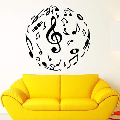 Sanzangtang muzieknote, muurtattoo, vinyl, zelfklevend, voor slaapkamer, afneembaar, wanddecoratie