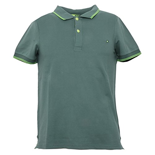 SHOCKLY B3482 Polo Uomo Maglia Manica Corta Verde t-Shirt Man [XS]