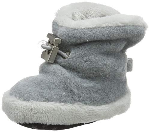 Sterntaler Jungen Baby Schuhe mit Schnurzug, Farbe: Silber melange, Größe: 17/18 EU, Alter: 6-9 Monate, Artikel-Nr.: 5101620