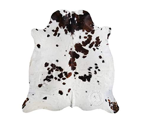 Tricolor Cowhide Rug Area Rug XL Approx. 6 x 8 ft.