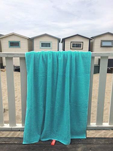 S< Toalla de Playa con Nombre - impresión Personalizada - Toalla de Sauna XXL - Toalla de Playa 100x200 de algodón - Menta