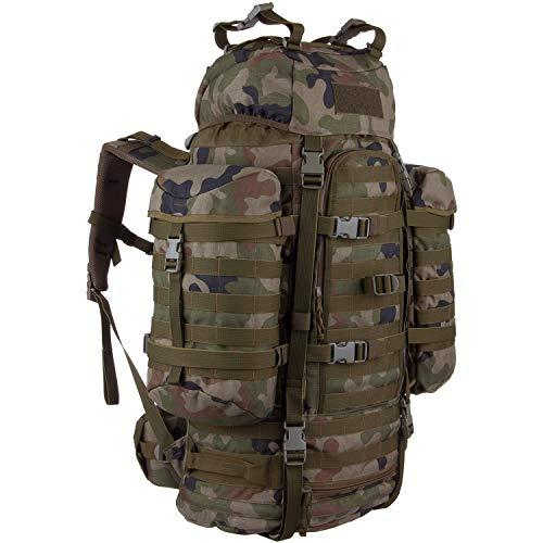 Wisport Trekkingrucksack groß Damen Herren + inkl. E-Book   taktischer Rucksack   Survival Outdoor Backpack   Expeditionsrucksack   Transport   Cordura   Camo   Wildcat 65 Liter WZ-93