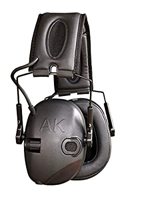 AKT1 Sport Sound Amplification Earmuff, Electronic Hearing Protection for Shooting Sports & Impact Noise, Premium Ear Pro with Memory Foam Cushions & Enhanced Sound Clarity, AK earpro, NRR 25